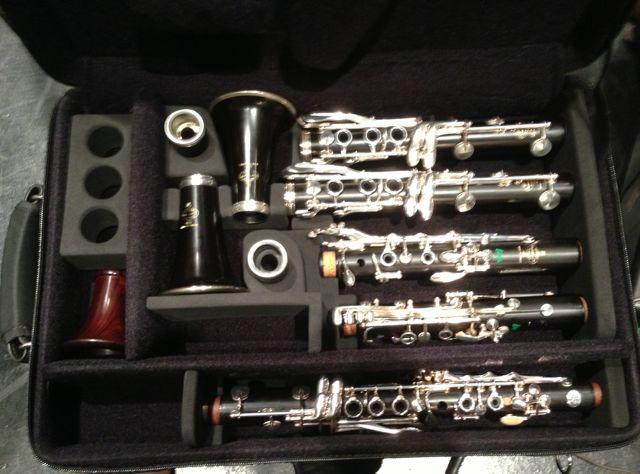 Bonna Triple Clarinet Case Holds 3 Cordura Black